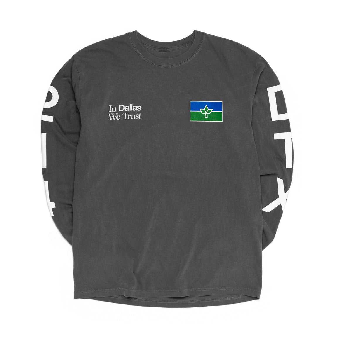 Centre In Dallas We Trust Long Sleeve Tee (Pepper) - Centre In Dallas We Trust Long Sleeve Tee (Pepper) -