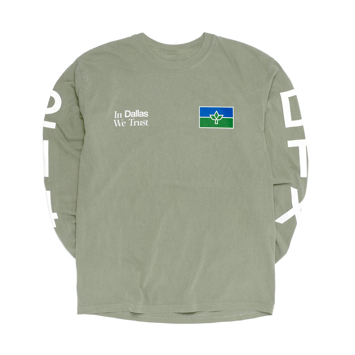 Centre In Dallas We Trust Long Sleeve Tee (Sandstone) - Centre In Dallas We Trust Long Sleeve Tee (Sandstone) -