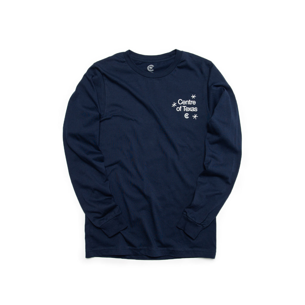 Centre Of Texas Deep Fried Long Sleeve Tee (Navy)