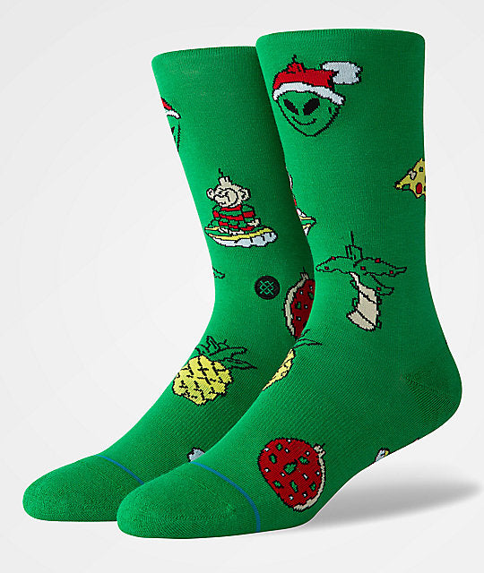 Stance XMAS Ornaments Socks (Green) - Accessories