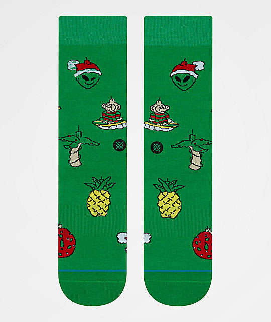 Stance XMAS Ornaments Socks (Green)