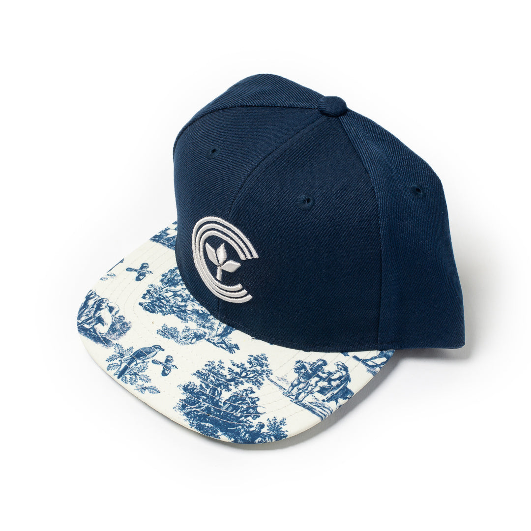Centre Magnolia Baseball Hat (Navy/Bone) - Centre Magnolia Baseball Hat (Navy/Bone) -