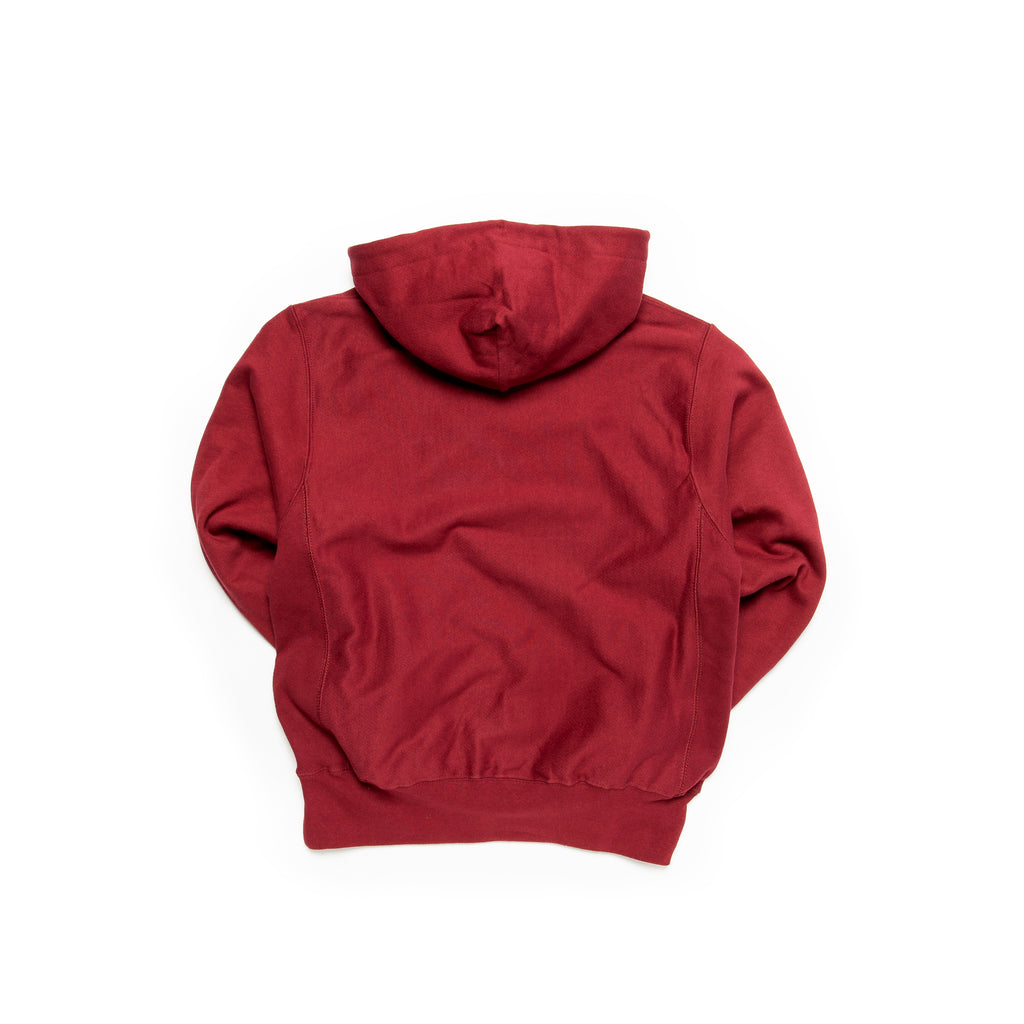 Centre Heavyweights Tonal Fleece Hoodie (Cardinal)