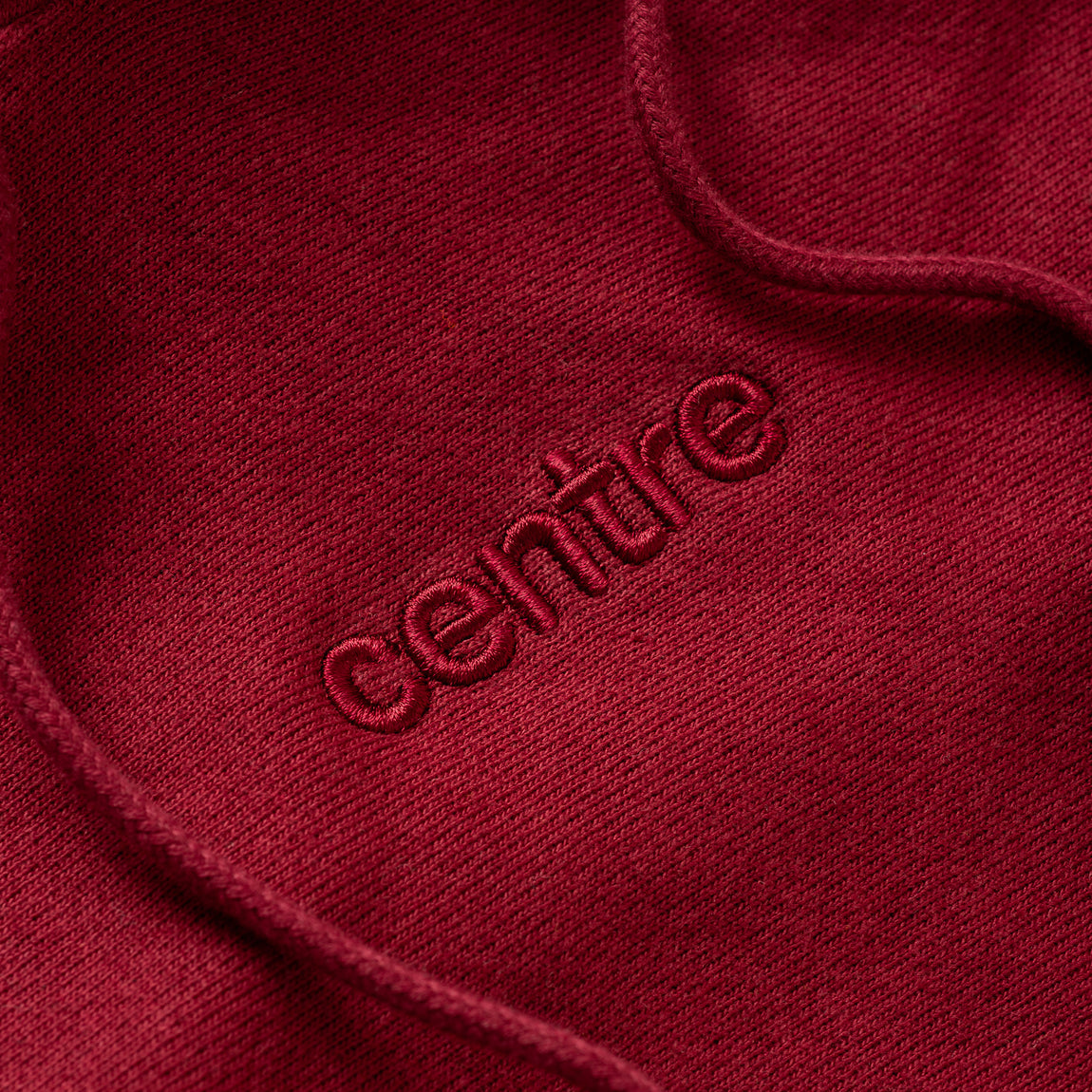 Centre Heavyweights Tonal Fleece Hoodie (Cardinal) - Centre Heavyweights Tonal Fleece Hoodie (Cardinal) -
