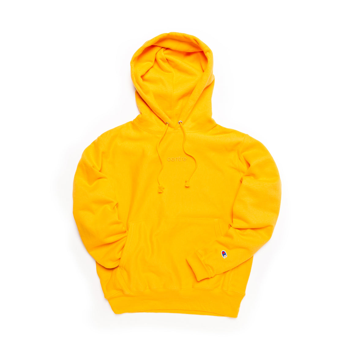 Centre Heavyweights Tonal Fleece Hoodie (Gold) - Centre Heavyweights Tonal Fleece Hoodie (Gold) -
