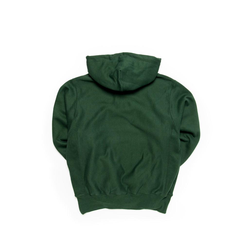 Centre Heavyweights Tonal Fleece Hoodie (Dark Green)