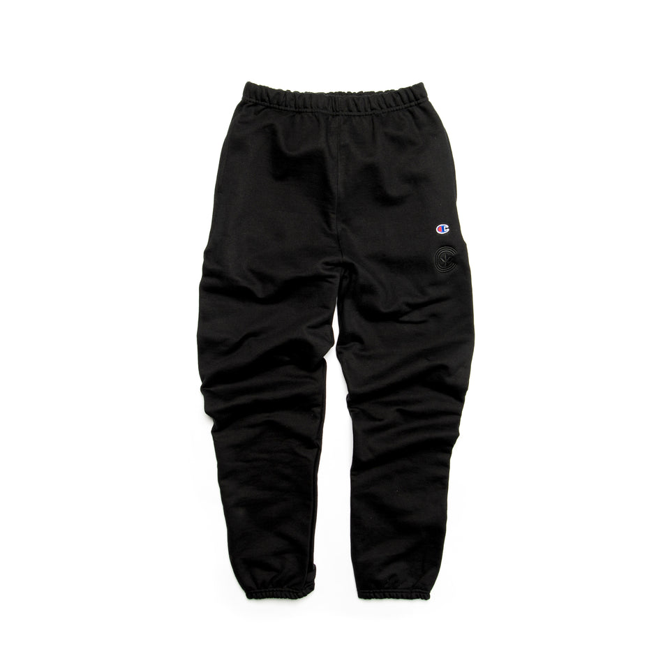 Centre Heavyweights Tonal Fleece Pants (Black) - Centre Bottoms