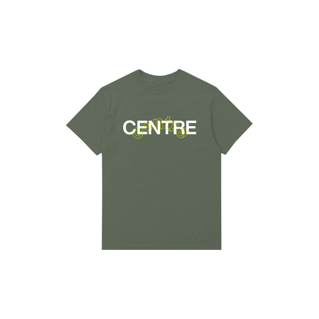 Centre Mixed Media Block Tee (Hemp)
