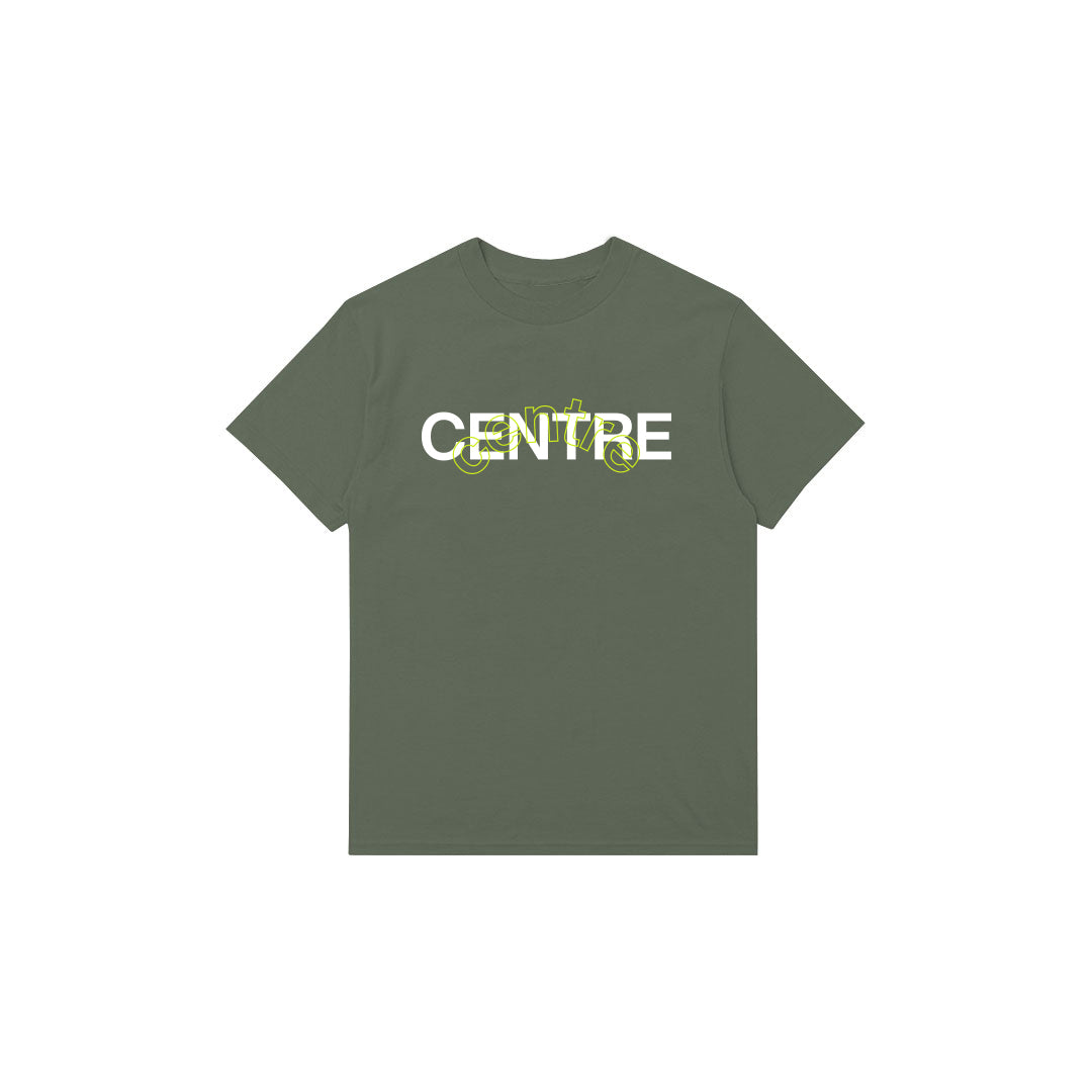 Centre Mixed Media Block Tee (Hemp) - Centre Mixed Media Block Tee (Hemp) -