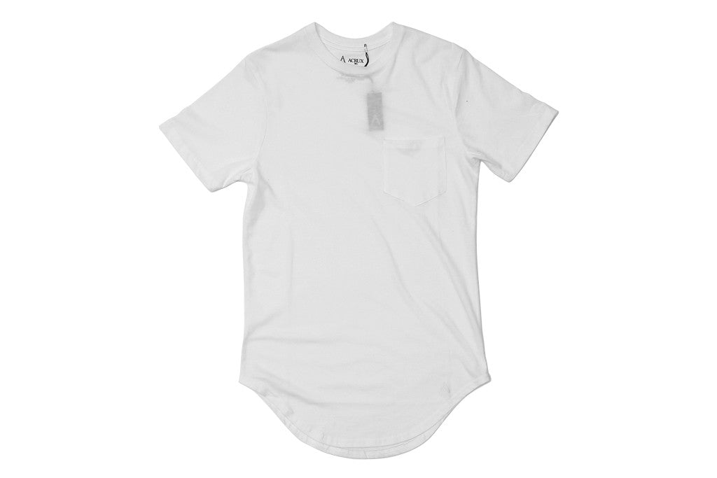 Acrux Scoop Pocket Tee (White)