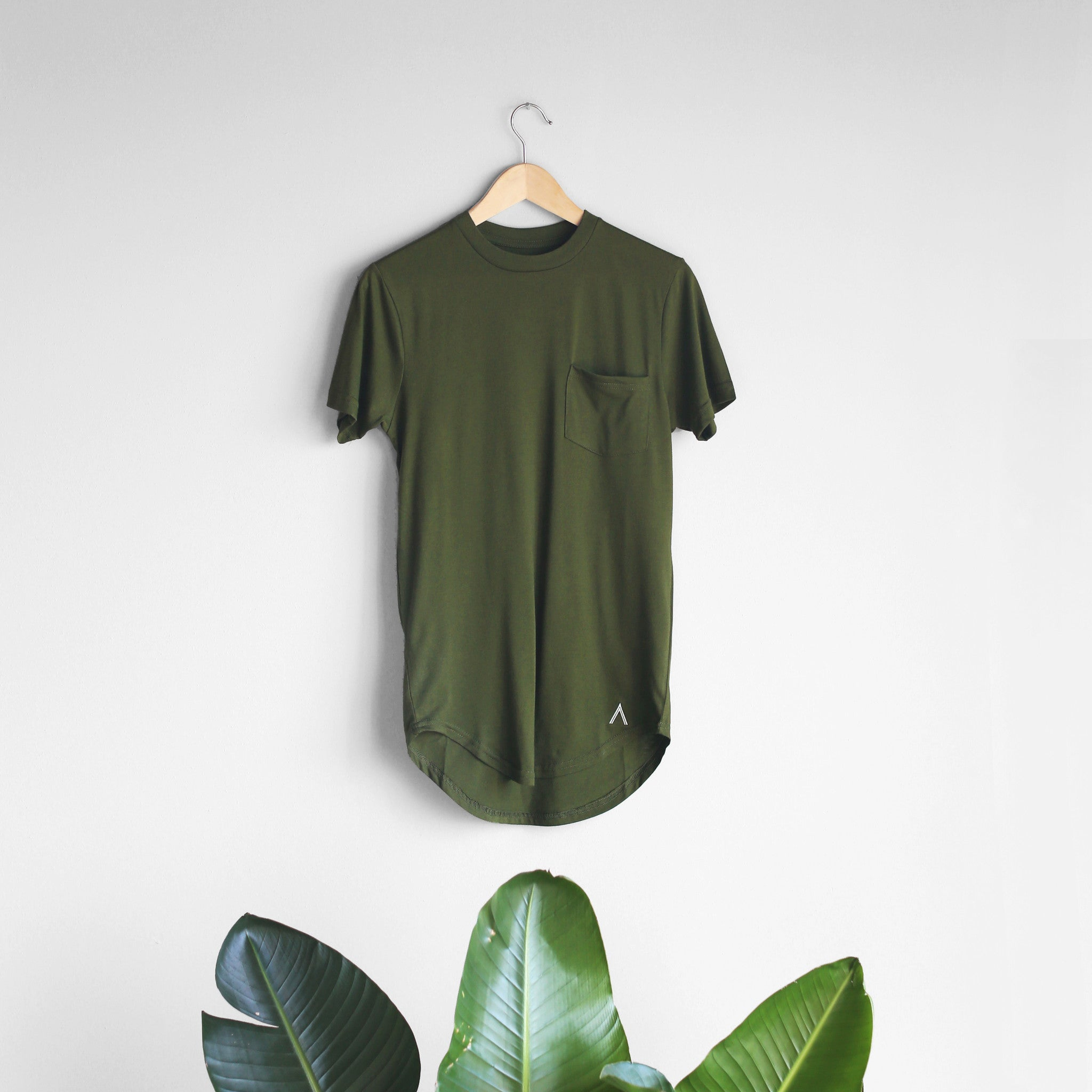 Acrux Scoop Pocket Tee (Olive)