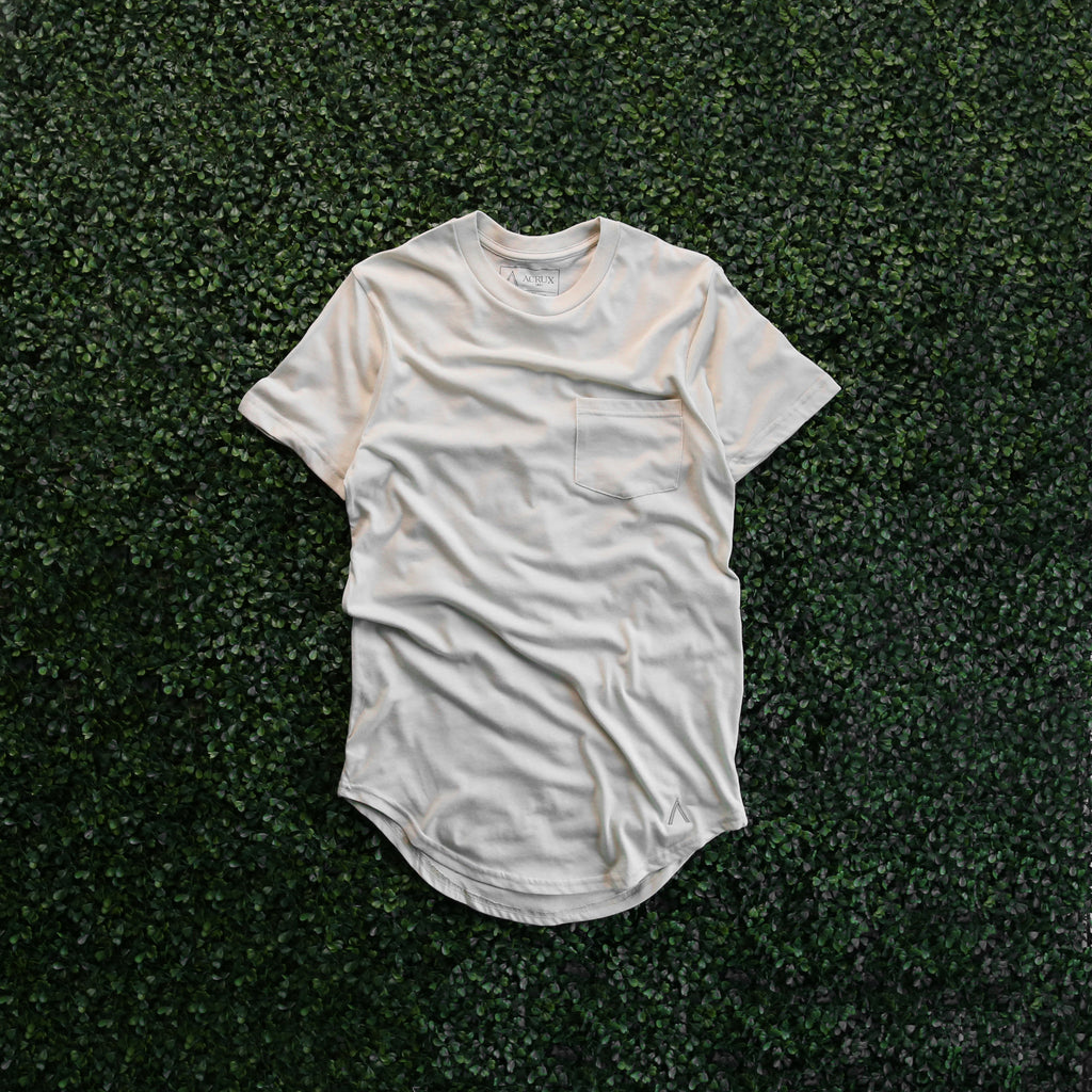 Acrux Scoop Pocket Tee (Cream)