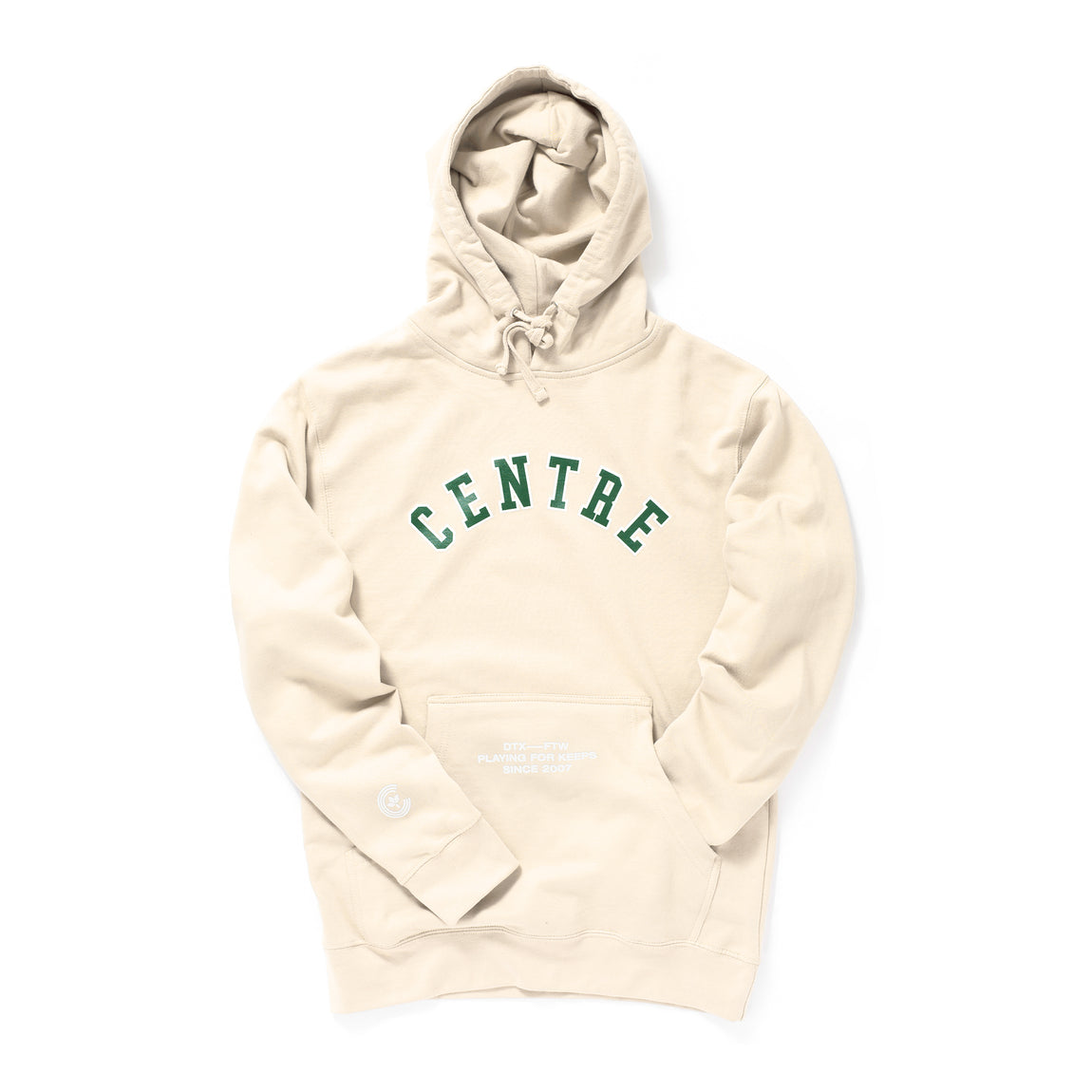 Centre Ivy League Hoodie (Bone) - Centre Ivy League Hoodie (Bone) -