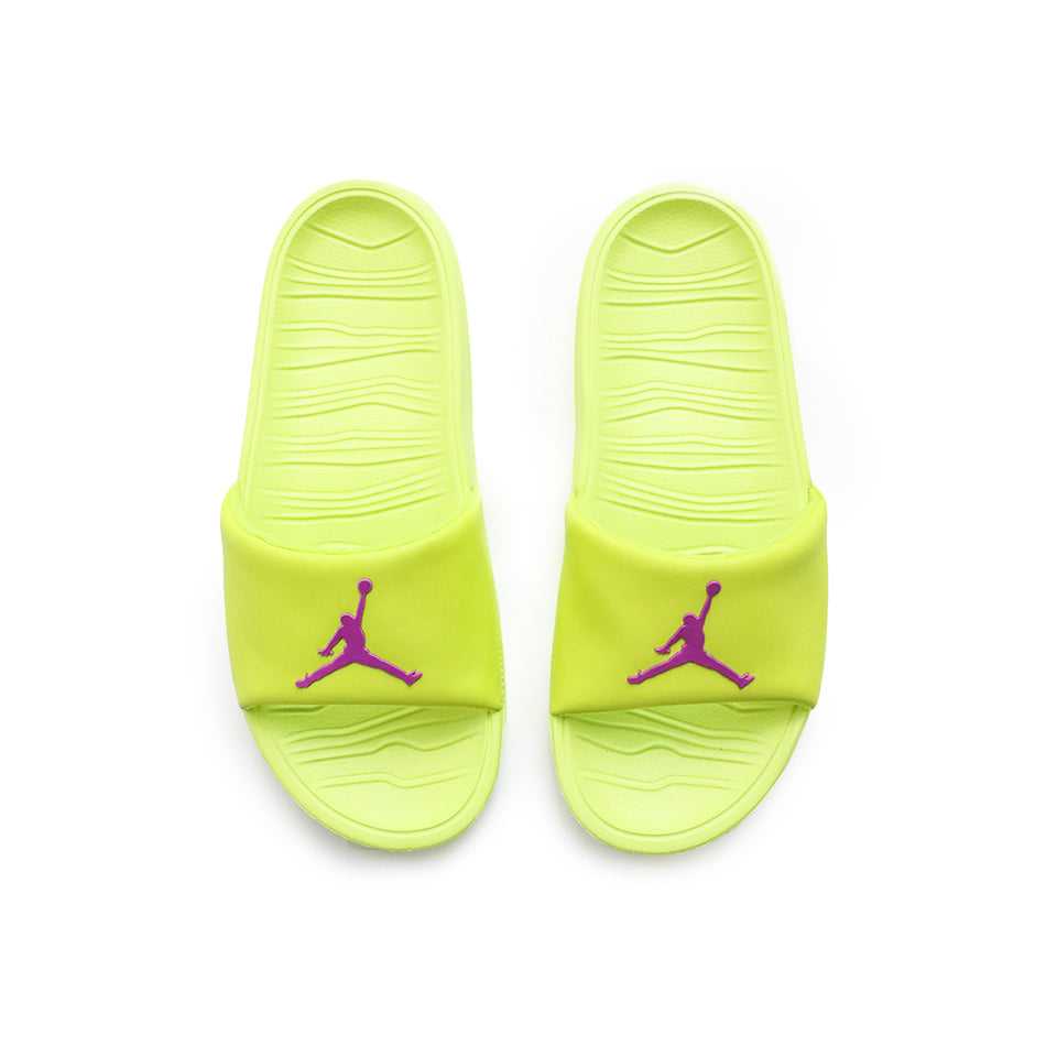 Jordan Break Slides (Cyber/Active Fuchsia) - Jordan