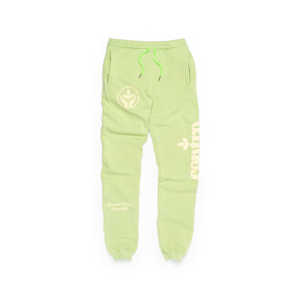 Centre Homegrown Fleece Pants (Lime) - Centre - Bottoms