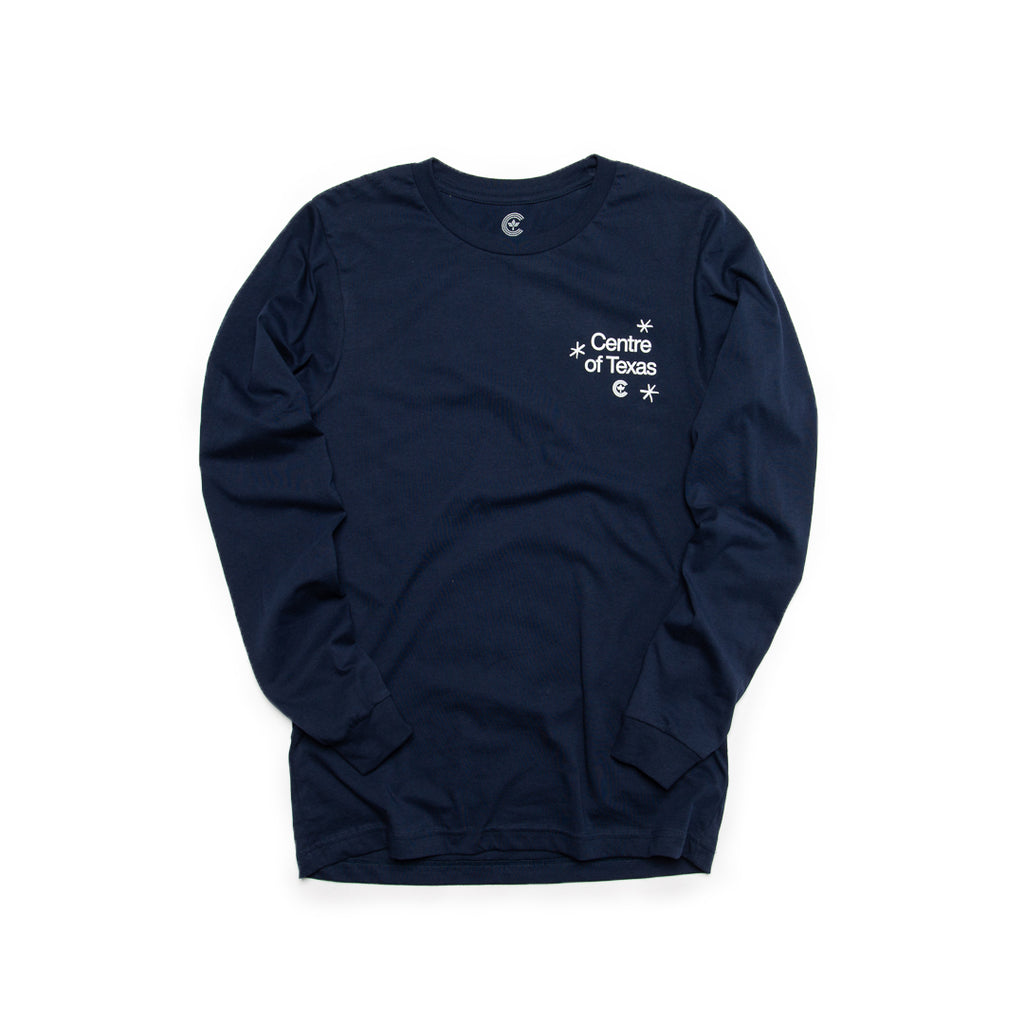 Centre Of Texas Midway Long Sleeve Tee (Navy)