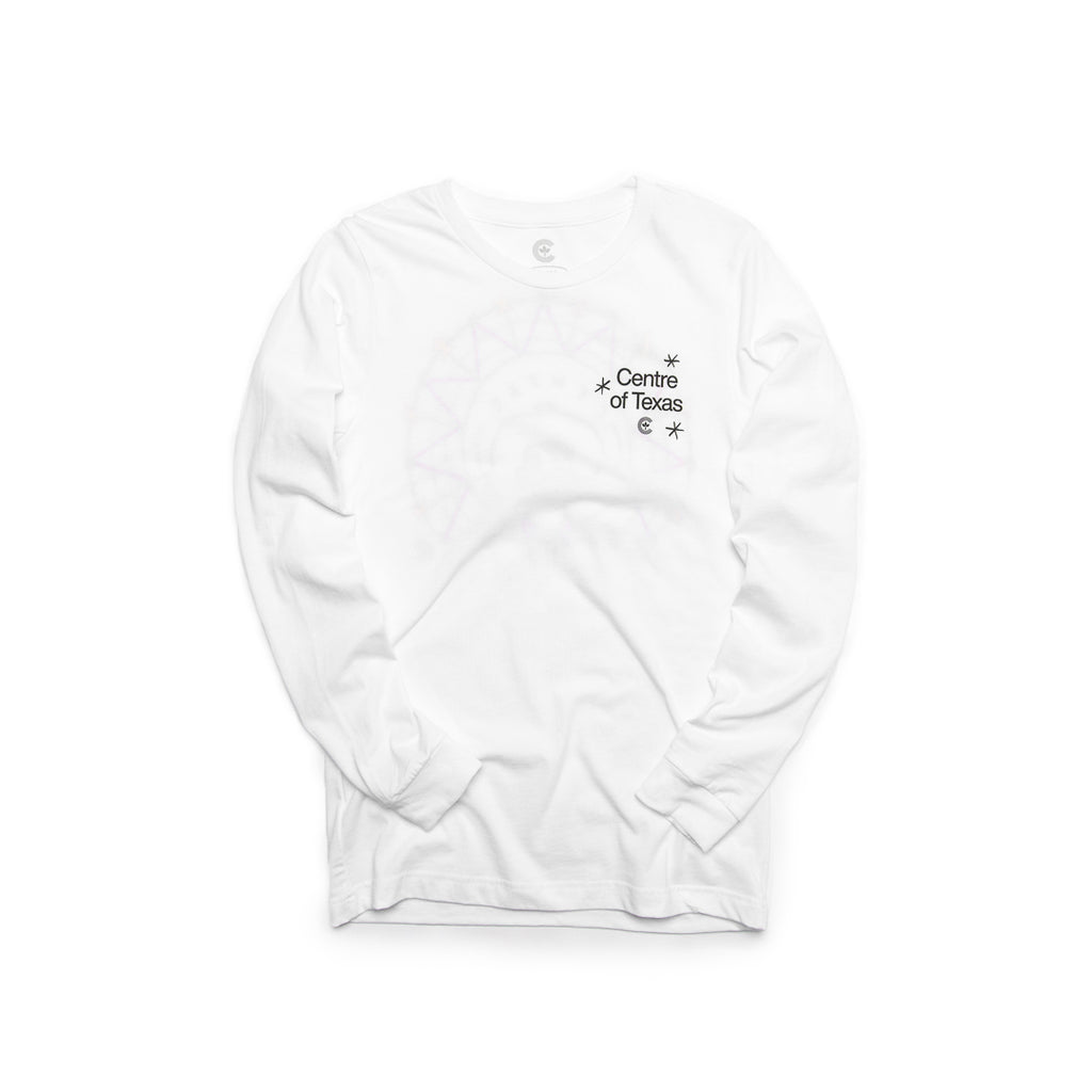 Centre Of Texas Midway Long Sleeve Tee (White)