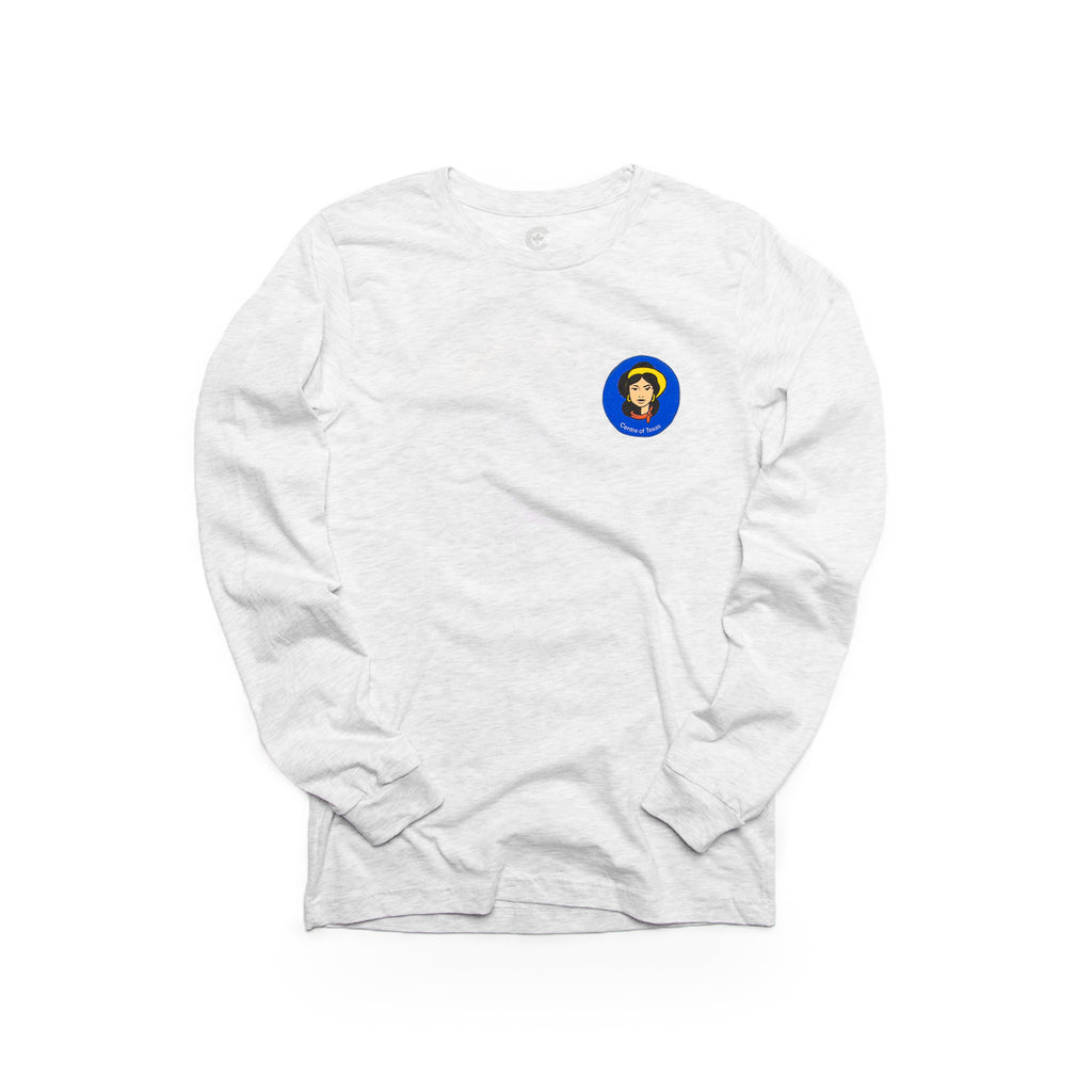 Centre Of Texas Miss Tex Long Sleeve Tee (Ash)