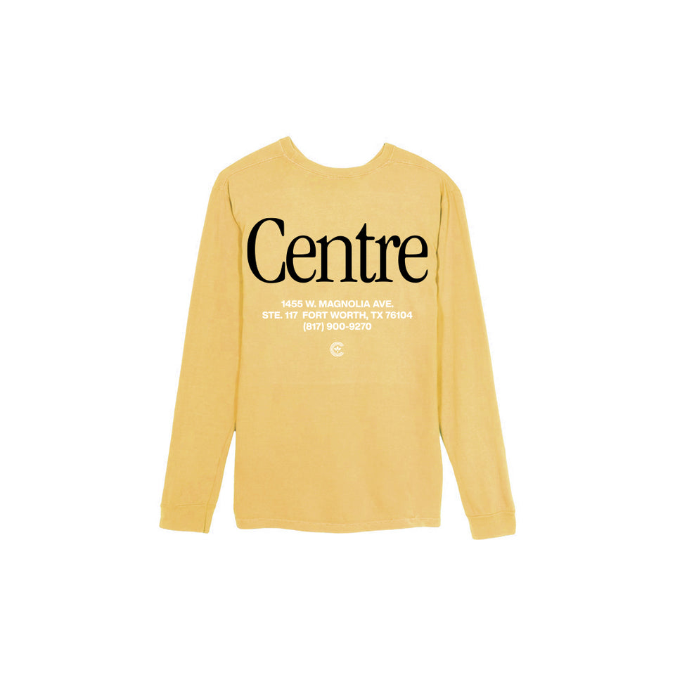 Centre Fort Worth Brick & Mortar Long Sleeve Tee (Mustard/Black) - Women