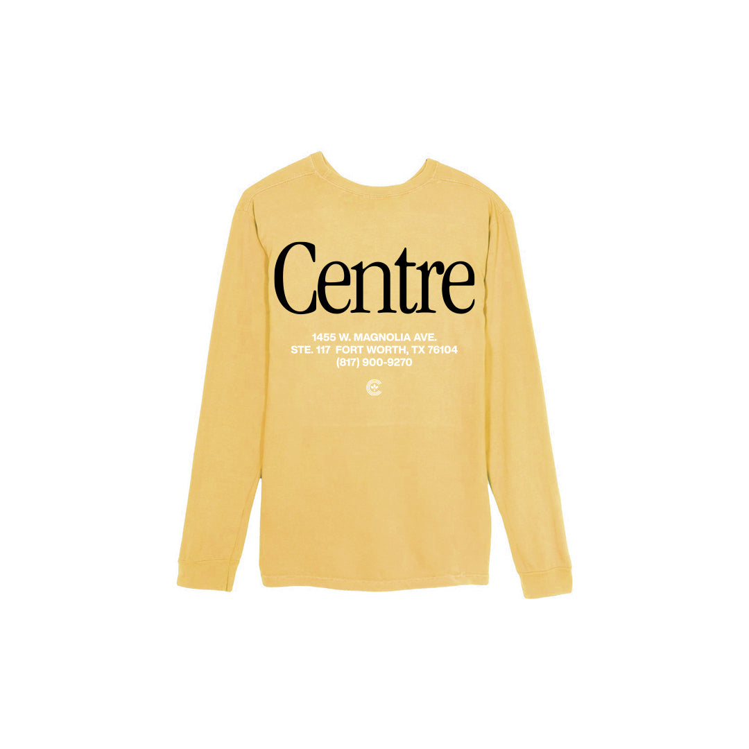 Centre Fort Worth Brick & Mortar Long Sleeve Tee (Mustard/Black) - Centre Fort Worth Brick & Mortar Long Sleeve Tee (Mustard/Black) -