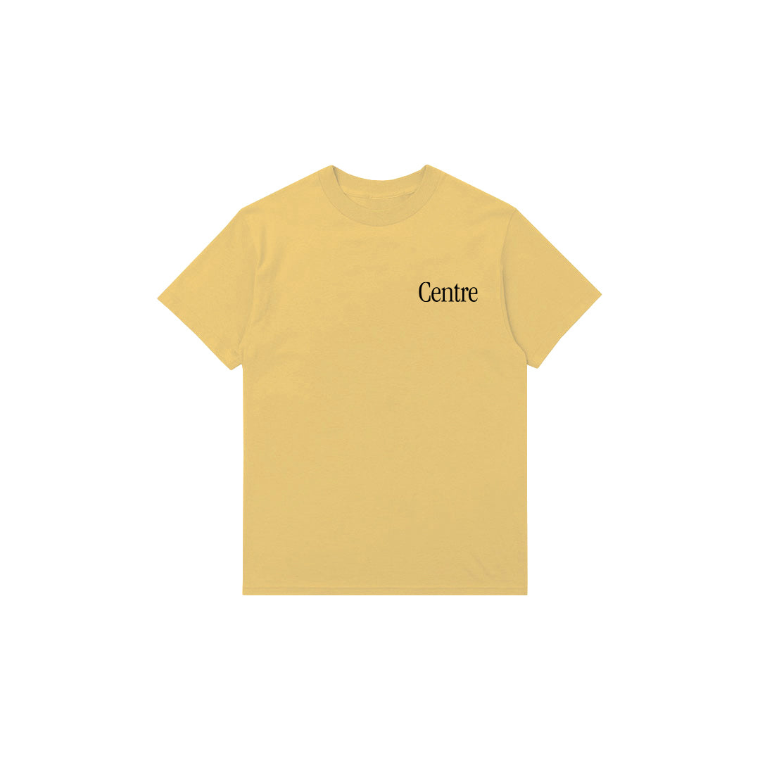 Centre Fort Worth Brick & Mortar Tee (Mustard/Black) - Centre Fort Worth Brick & Mortar Tee (Mustard/Black) -
