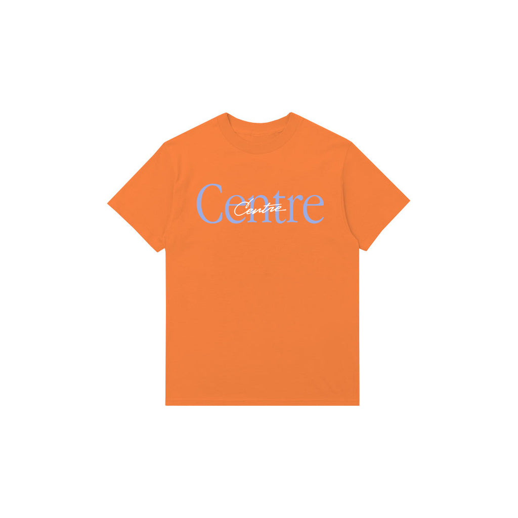Centre Mixed Media Script Tee (Melon)