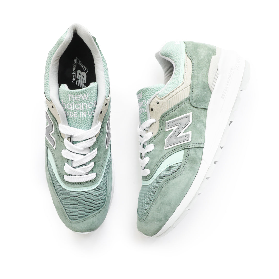 New Balance 997 Made In USA (Green/White) - New Balance 997 Made In USA (Green/White) -