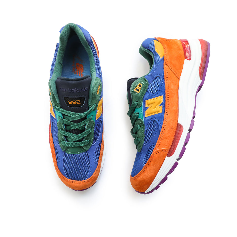 New Balance 992 Made In USA (Orange/Blue) - New Balance