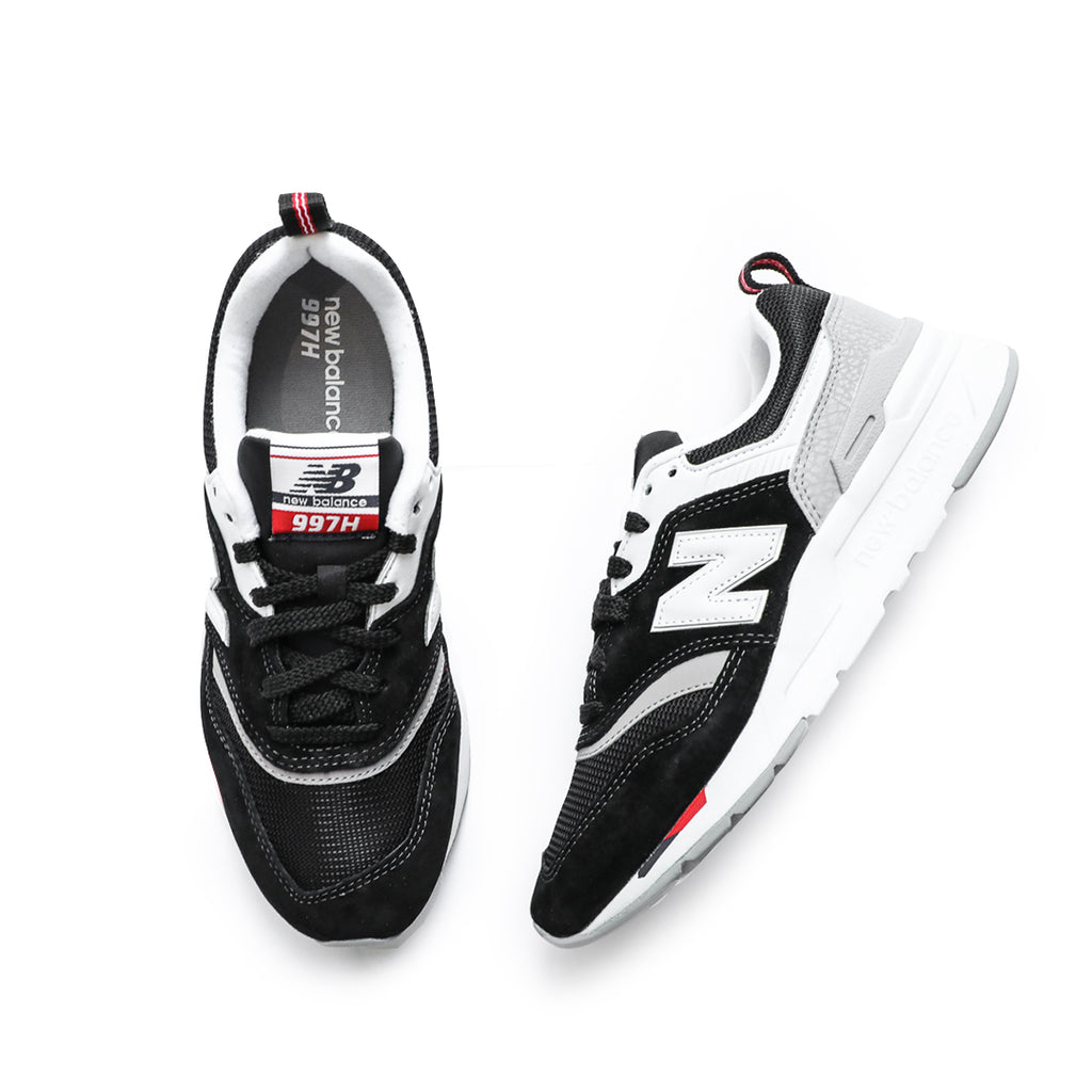 New Balance Women's 997H (Black/White/Team Red)