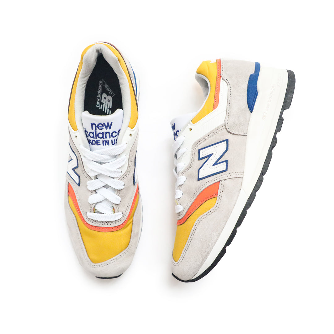 New Balance Made In USA 997 (Grey/Yellow-Blue) - New Balance Made In USA 997 (Grey/Yellow-Blue) -