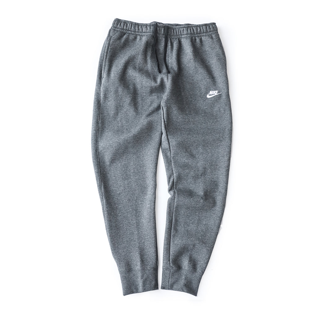 Nike Sportswear Club Fleece Pants (Charcoal Heather/White)