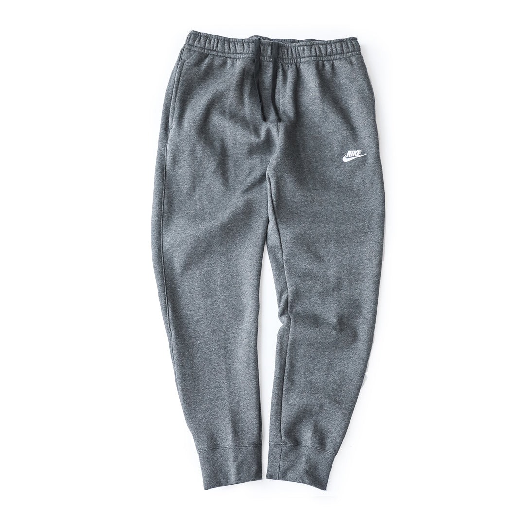 Nike Sportswear Club Fleece Pants (Charcoal Heather/White) - Nike Sportswear Club Fleece Pants (Charcoal Heather/White) -