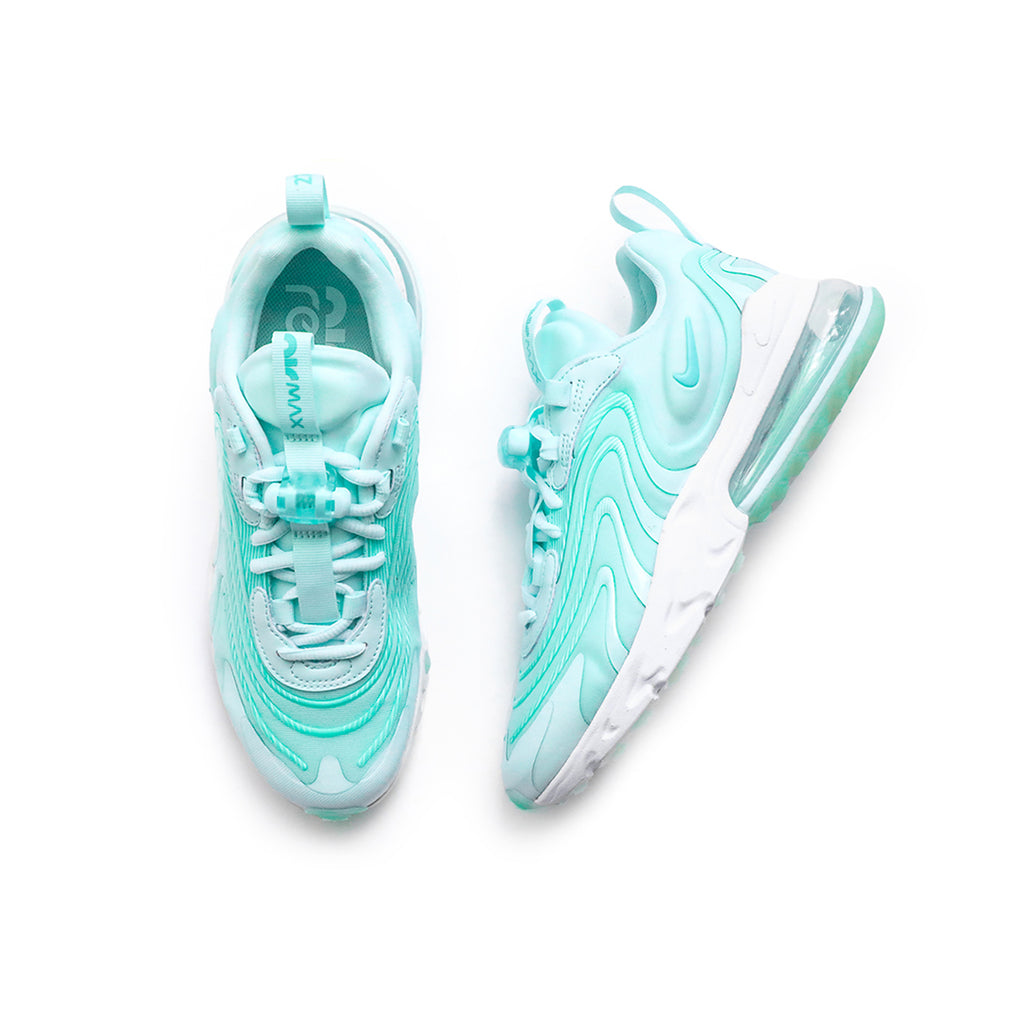 Nike Women's Air Max 270 React ENG (Teal Tint/Aurora Green/Metallic Silver)