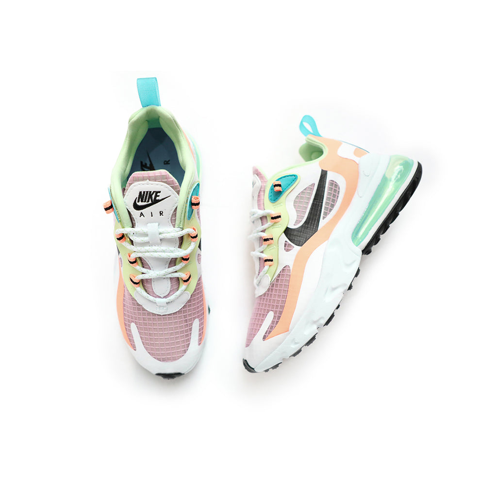 Nike Women's Air Max 270 React SE (Light Arctic Pink/Black/Orange Pulse/White)