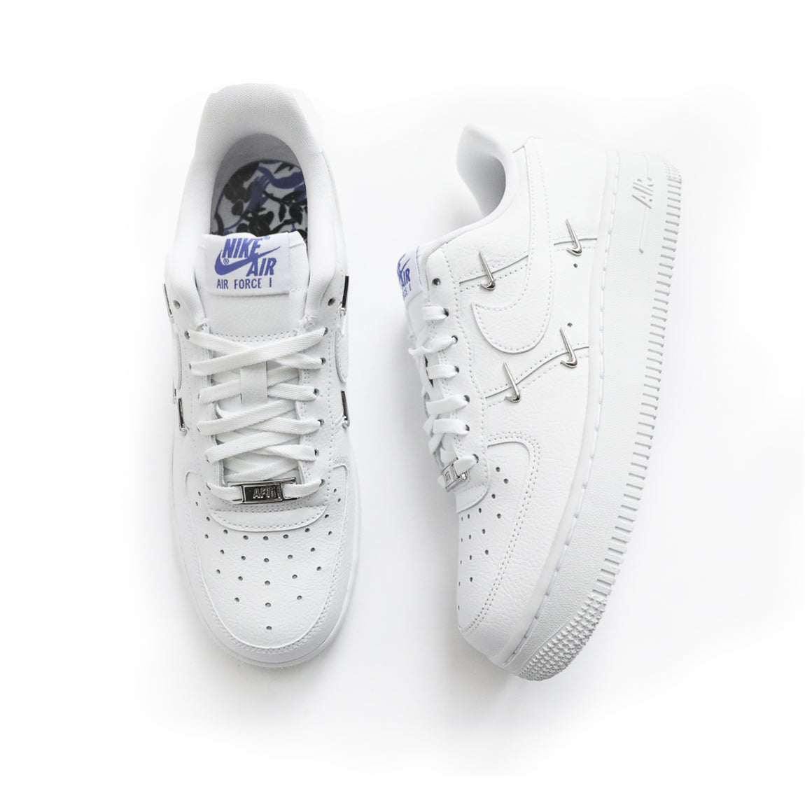 Nike Women's Air Force 1 '07 LX (White/Metallic Gold/Hyper Royal) - Nike Women's Air Force 1 '07 LX (White/Metallic Gold/Hyper Royal) -
