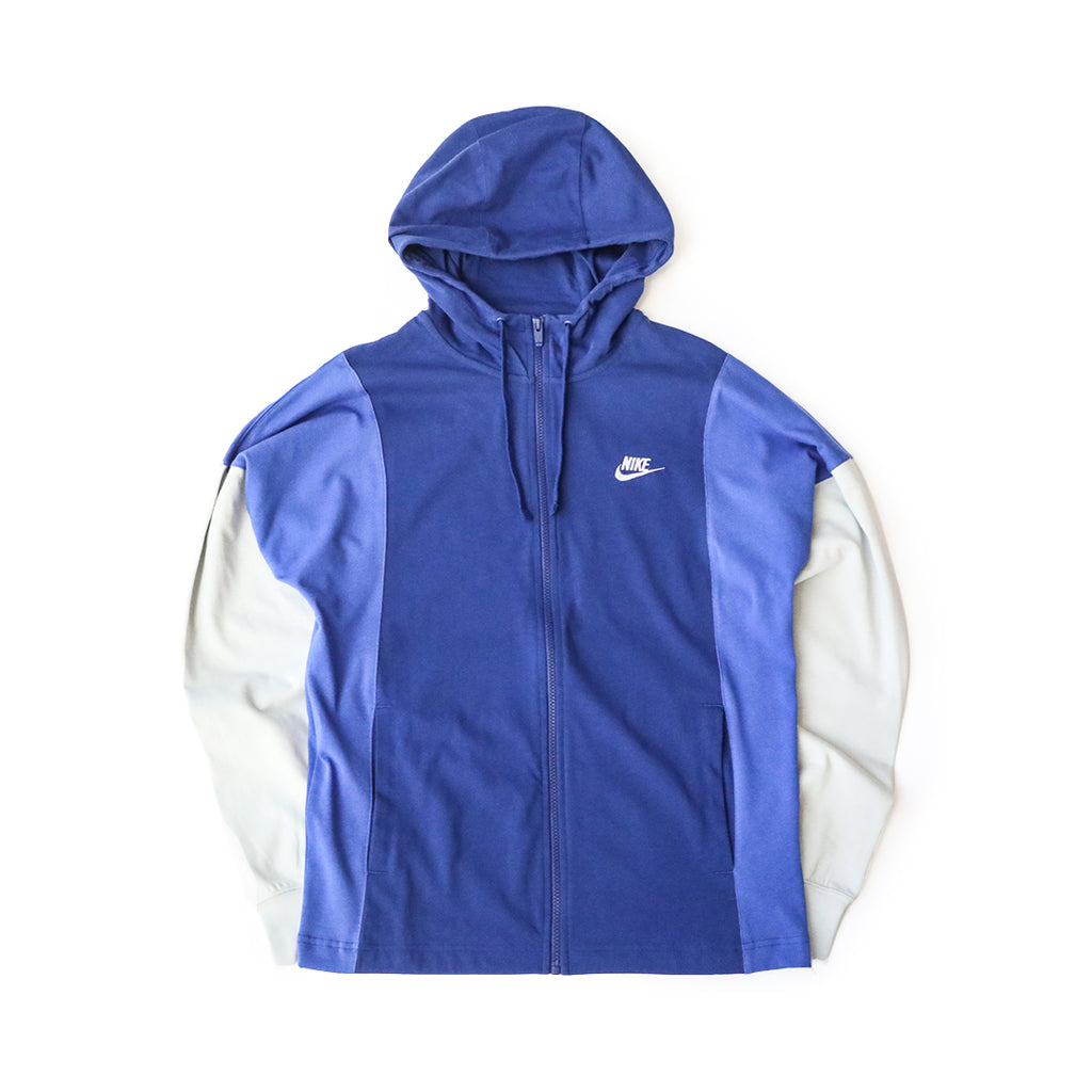 Nike Sportswear Full-Zip Hoodie (Deep Royal Blue/Astronomy Blue-White)