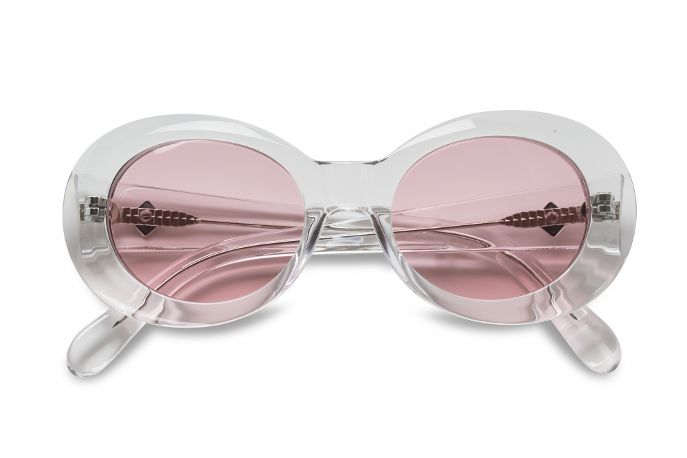 Wonderland Needles Sunglasses (Clear/Rose)