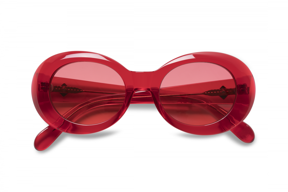 Wonderland Needles Sunglasses (Red Gel/Red) - Wonderland Needles Sunglasses (Red Gel/Red) -