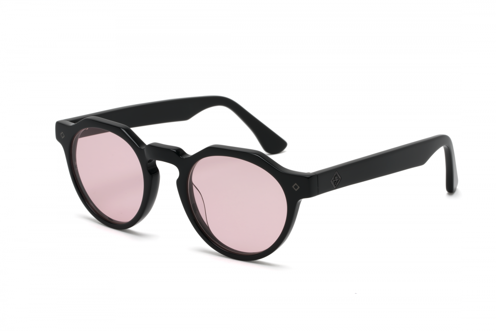Wonderland Fontana Sunglasses (Gloss Black/Rose)