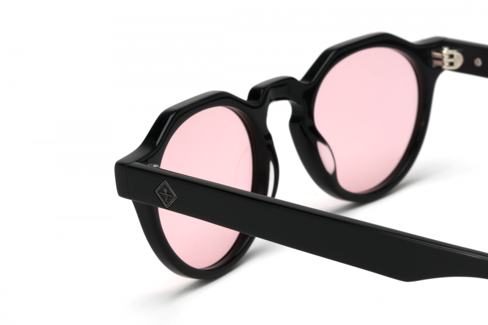 Wonderland Fontana Sunglasses (Gloss Black/Rose) - Wonderland Fontana Sunglasses (Gloss Black/Rose) -