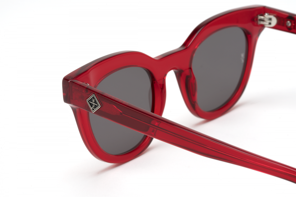 Wonderland Perris Sunglasses (Red Gel/Grey) - Wonderland Perris Sunglasses (Red Gel/Grey) -