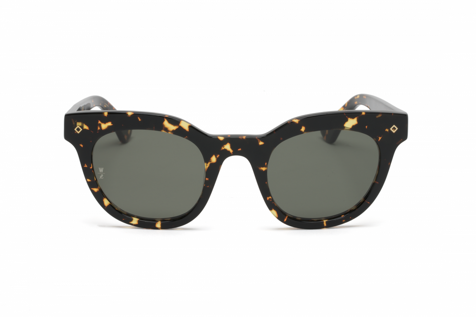 Wonderland Perris Sunglasses (Yellow Tortoise/Green) - Accessories - Eyewear