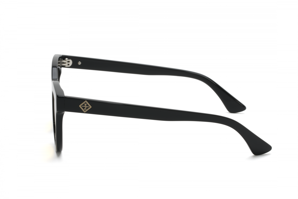 Wonderland Perris Sunglasses (Gloss Black/Yellow)