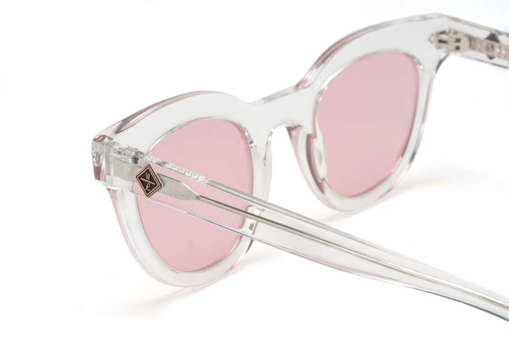 Wonderland Perris Sunglasses (Clear Beach Glass/Rose) - Wonderland Perris Sunglasses (Clear Beach Glass/Rose) -