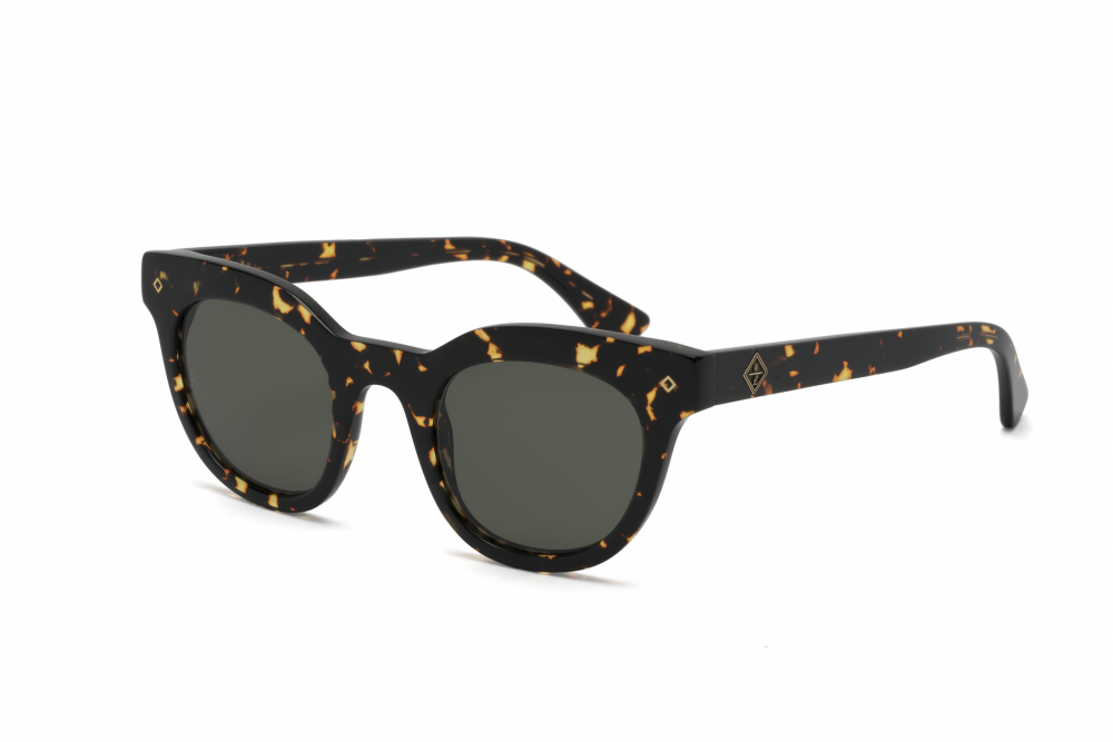 Wonderland Perris Sunglasses (Yellow Tortoise/Green)