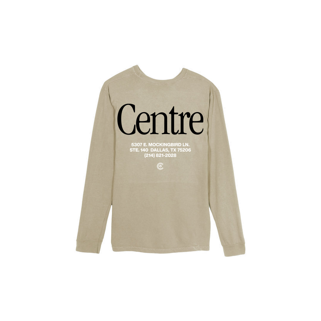 Centre Dallas Brick & Mortar Long Sleeve Tee (Sandstone/Black) - Centre Dallas Brick & Mortar Long Sleeve Tee (Sandstone/Black) -