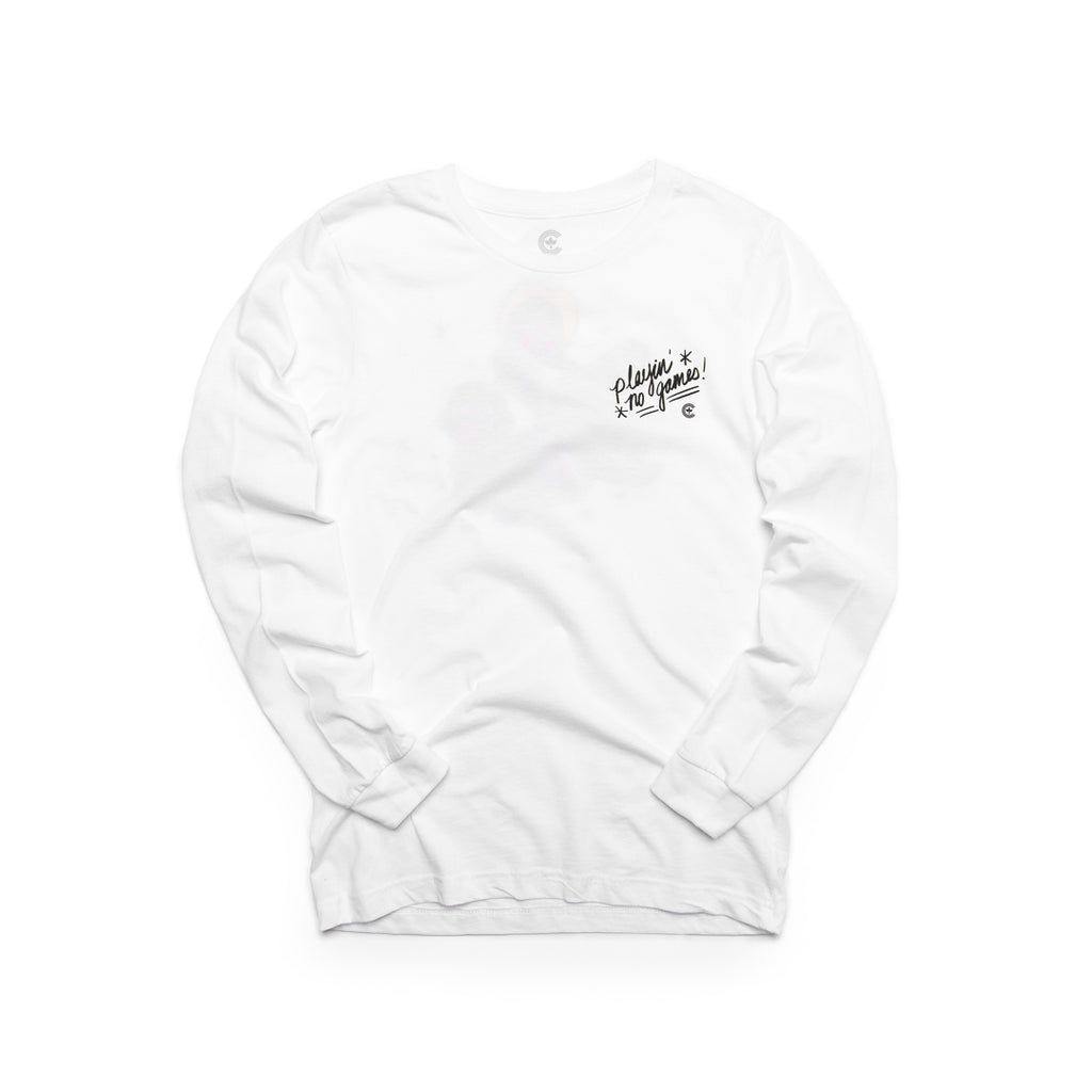 Centre Of Texas Sharks & Gorillas Long Sleeve Tee (White)