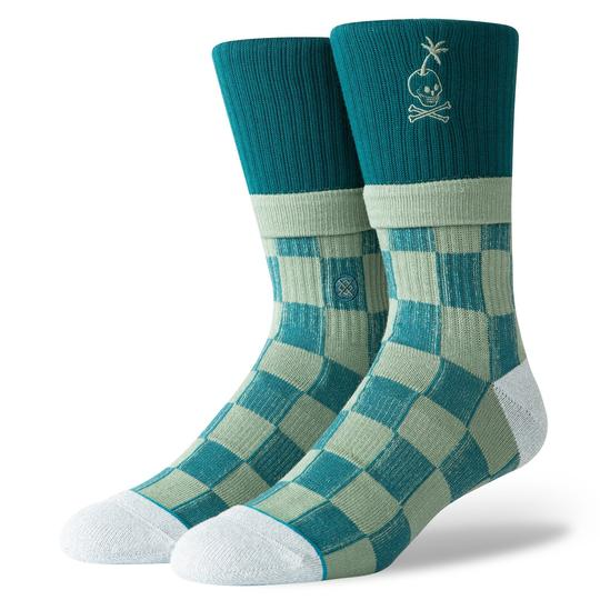 Stance Stacked Palm Socks (Green) - Stance Stacked Palm Socks (Green) -