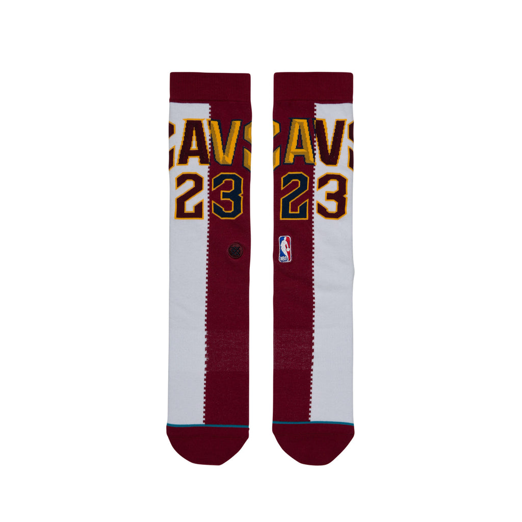 Stance Cavs James Split Jersey Socks (Burgundy/White)