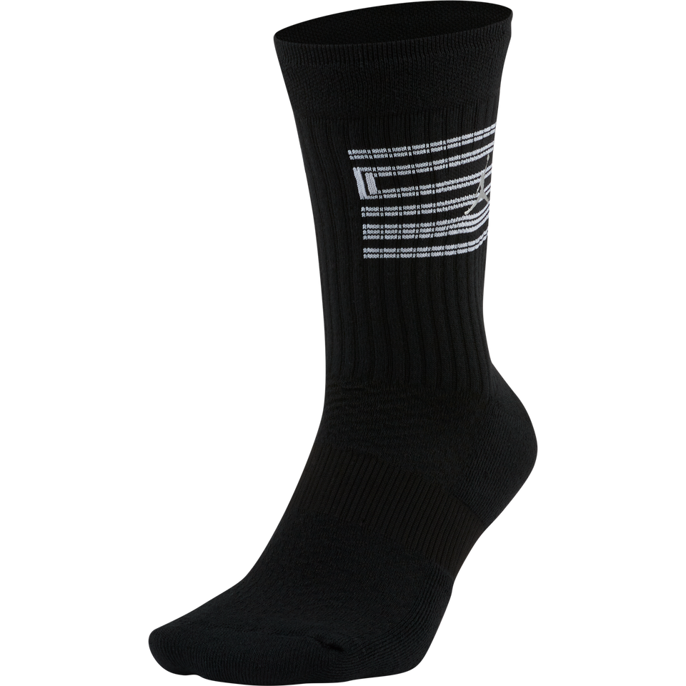 Air Jordan AJ 11 Legacy Socks (Black/White/Metallic Silver) - Jordan
